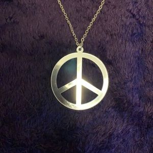 ✨Peace sign necklace